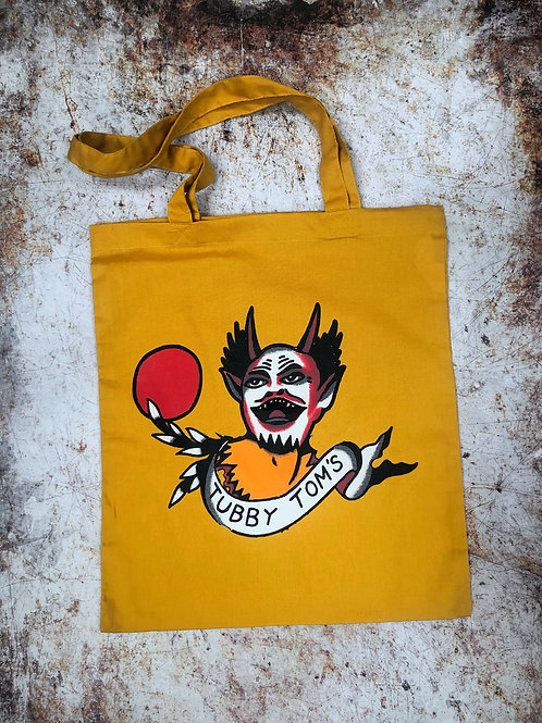 CHEEKY DIABLO TOTE - GOLDEN BAG