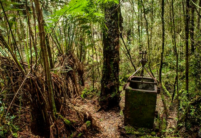 Mining relic Queenstown Tasmania