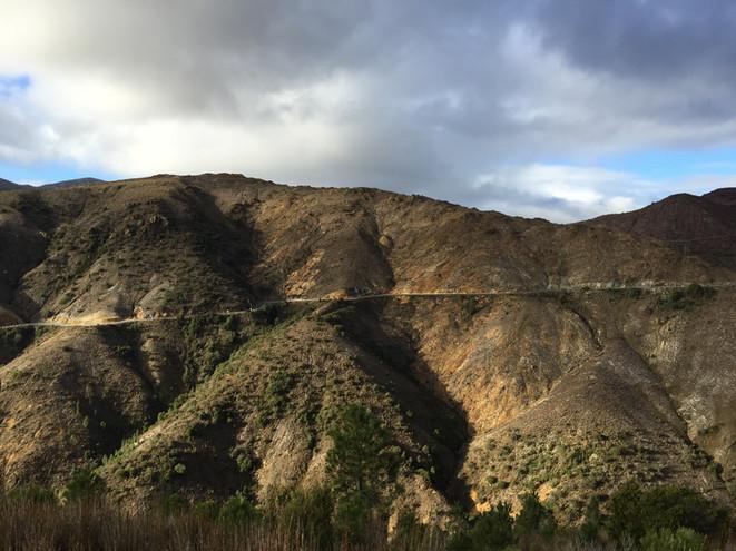 Lyell Highway descent