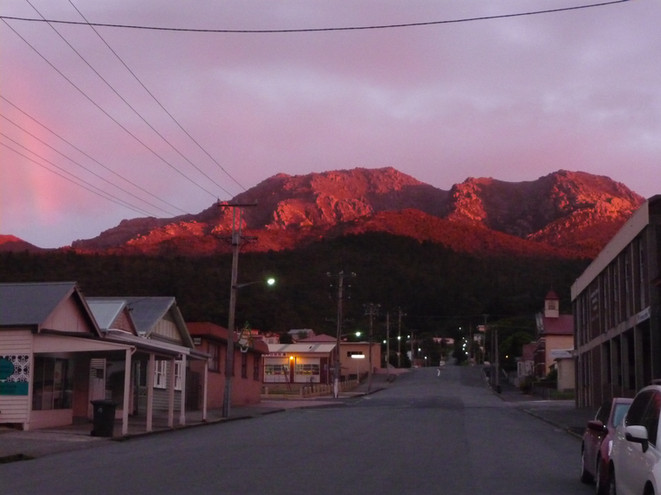 Mt Owen pink Queenstown Tasmania