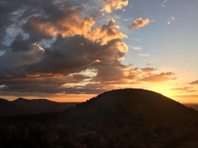 Days end from Mt Huxley Queenstown Tasmania