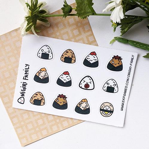 Onigiri Family Sticker Sheet