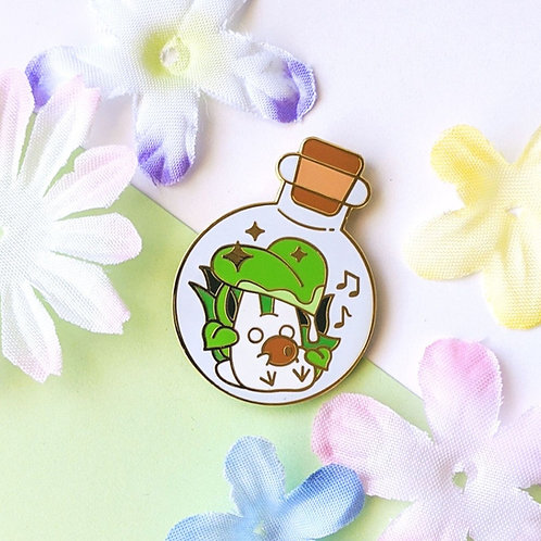 Bottled Chibi Totoro Forest Spirit Enamel Pin