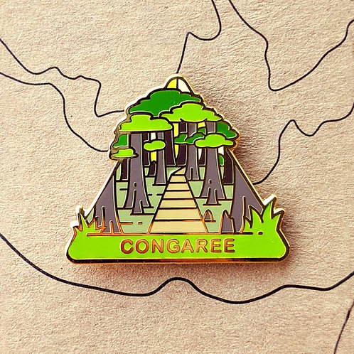 Congaree National Park Hard Enamel Pin