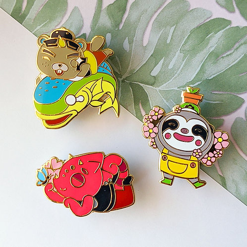 Animal Crossing Hard Enamel Pin Set