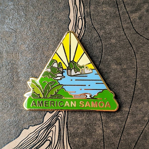 American Samoa National Park Hard Enamel Pin