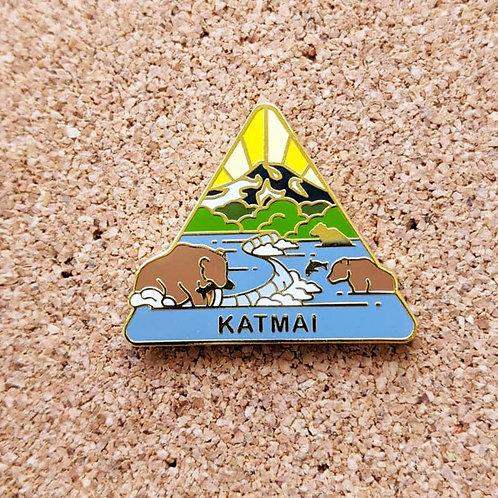 Katmai National Park Hard Enamel Pin