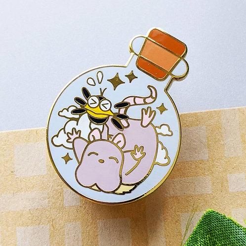 Bottled Bird & Mouse Friendship Spirit Enamel Pin