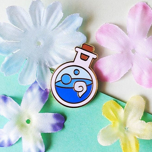 Blue MP Mana Potion Bottle Hard Enamel Pin