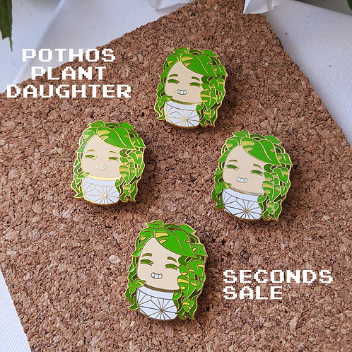 Pothos Plant Daughter Pin Seconds Sale