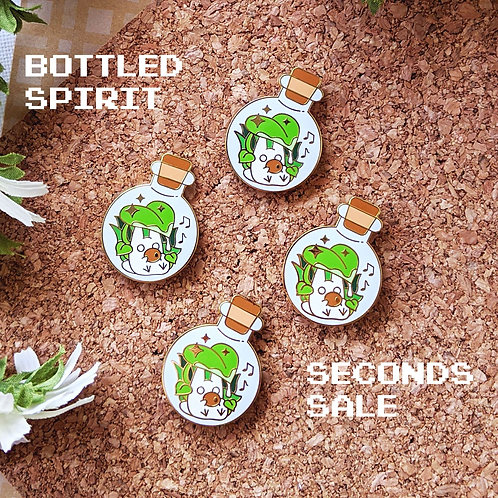 SECONDS Bottled Musical Forest Chibi Totoro Spirit Enamel Pin
