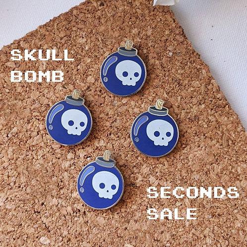Skull Bomb Pin Seconds Sale