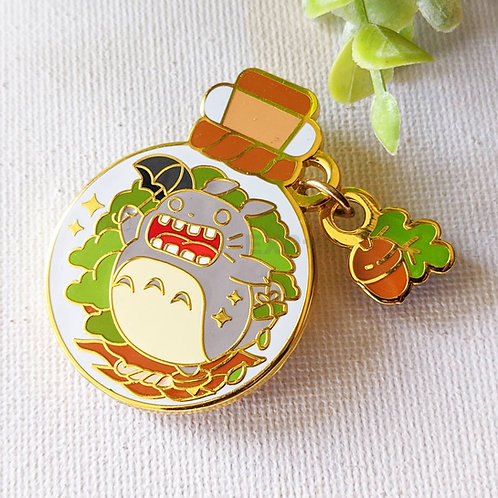 Roaring Totoro Forest Guardian Enamel Pin