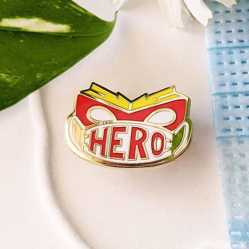 Mask Hero Hard Enamel Pin