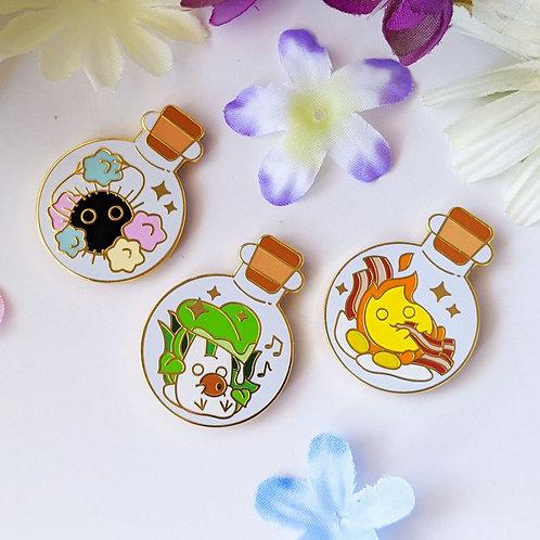 Set of Bottled Ghibli Spirit Enamel Pins