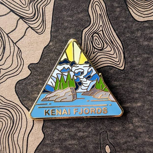 Kenai Fjords National Park Hard Enamel Pin