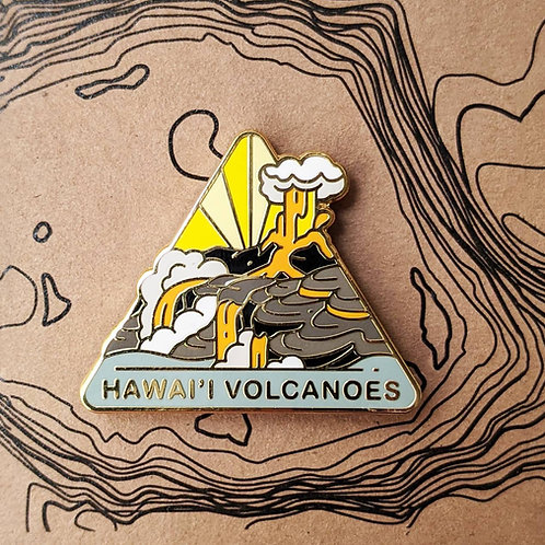 Hawai'i  Volcanoes National Park Hard Enamel Pin