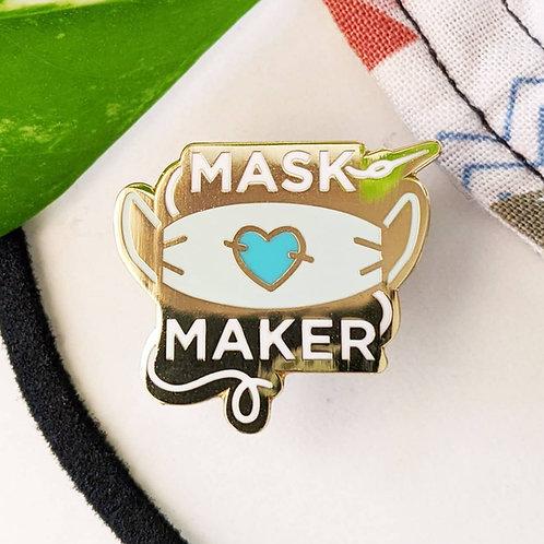 Mask Maker Hard Enamel Pin