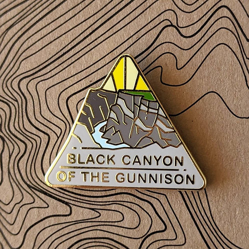 Black Canyon of the Gunnison National Park Hard Enamel Pin