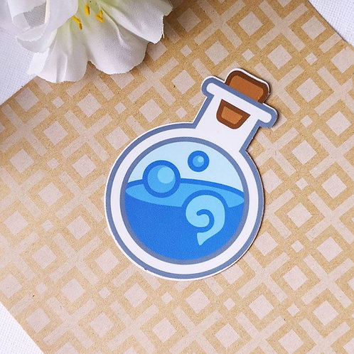 Blue MP Mana Potion Bottle Vinyl Sticker