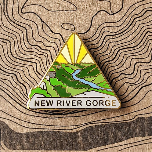 New River Gorge National Park Hard Enamel Pin