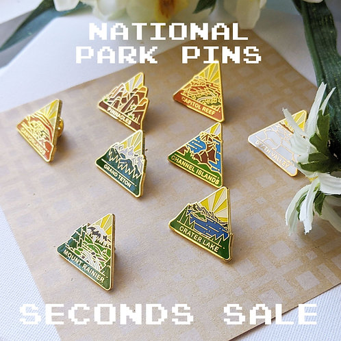 National Park Pins (H-V) Seconds Sale