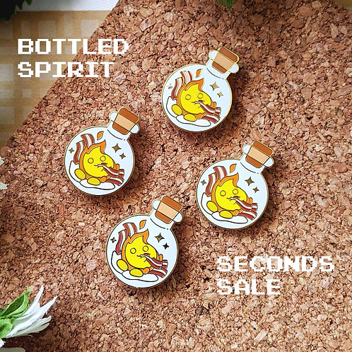 SECONDS Bottled Hungry Calcifer Fire Spirit Enamel Pin