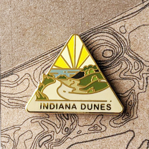 Indiana Dunes National Park Hard Enamel Pin