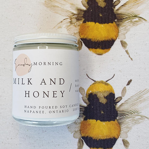 Milk and Honey 8 Oz. Soy Candle