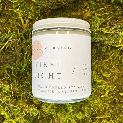 First Light 8 Oz. Soy Candle