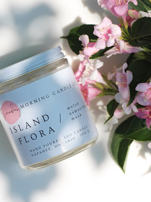Island Flora Soy Candle