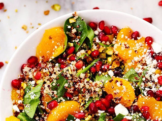 Spinach, Amaranth & Pomegranate Salad