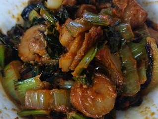 Winter Greens Stir Fry in Tomato Rosemary Sauce