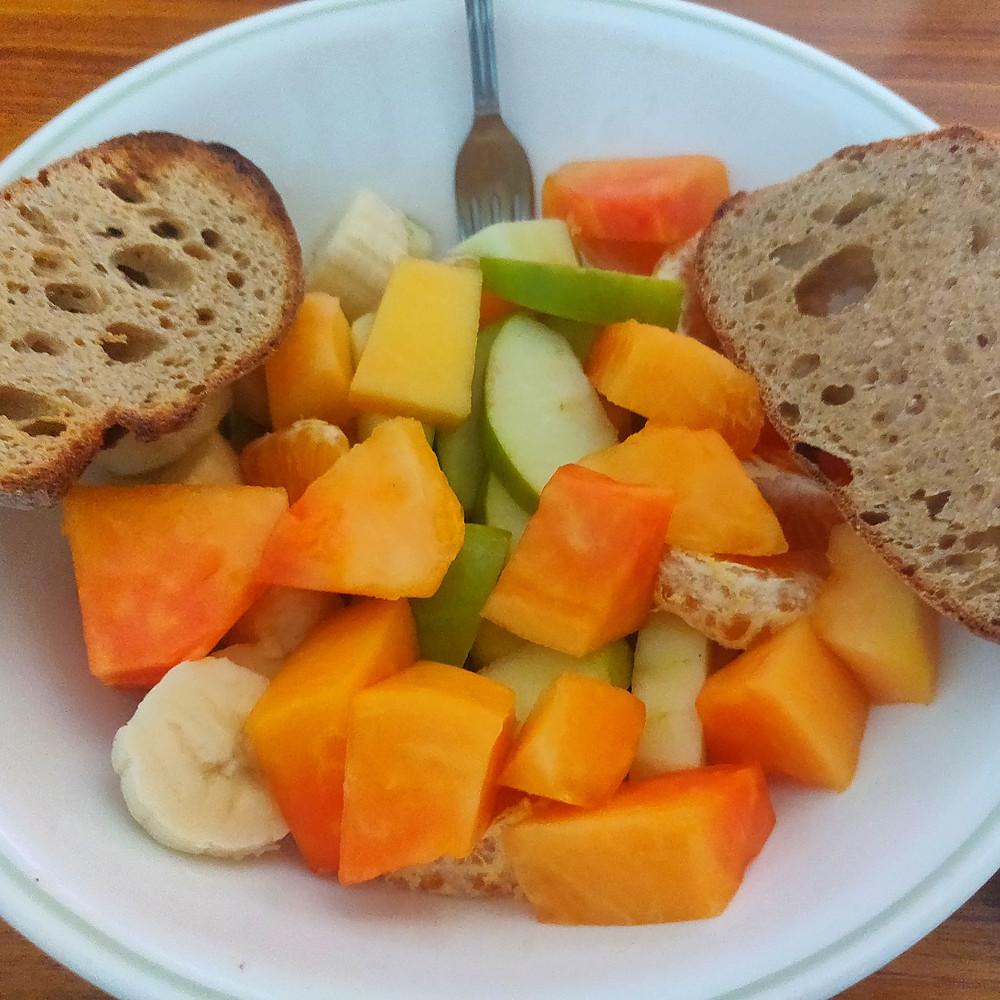Seasonal Fruit Bowl with Mango Vinaigrette