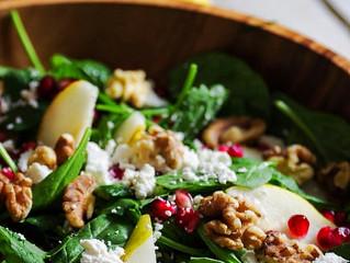 Roasted Pear & Feta Salad