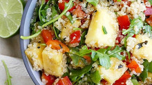 Quinoa & Arugula Salad with Zesty Pineapple Dressing