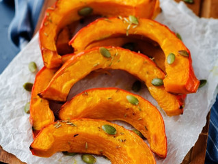 Spicy Roasted Yellow Pumpkin Wedges