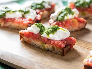 Sourdough & Mixed Pesto Bruschetta