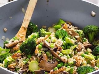 Portobello, Shiitake & Broccoli Stir Fry Bowl