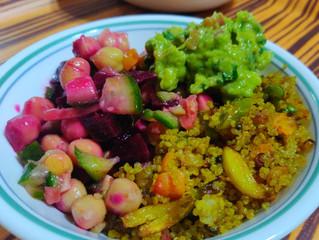 Guacamole and Quinoa Power Bowl