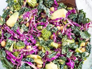 Cilantro Zest Kale & Purple Cabbage Salad