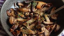 Garlic Miso Shiitake Mushrooms