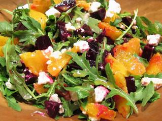 Pickled Beetroot, Orange & Arugula Salad