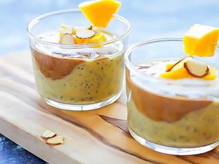 Mango, Musk Melon & Chia Pudding