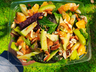 Mixed Leaf Green Salad with Miso Dressing