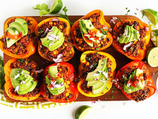 Marinated Stuffed Bell Peppers
