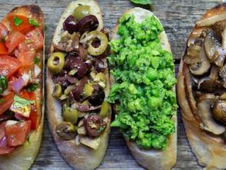 Vegan Baguette Bruschetta 4 Ways