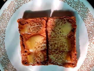 Open Toastie with Almond Satay Sauce & Gruyere