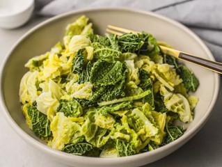 Butter Braised Savoy Cabbage