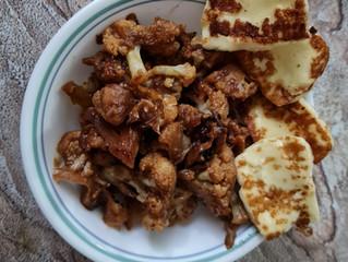 Miso Cauliflower & Pan Seared Halloumi